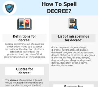 decree, spellcheck decree, how to spell decree, how do you spell decree, correct spelling for decree
