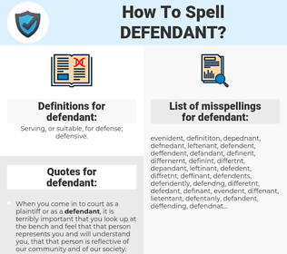 defendant, spellcheck defendant, how to spell defendant, how do you spell defendant, correct spelling for defendant