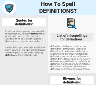 definitions, spellcheck definitions, how to spell definitions, how do you spell definitions, correct spelling for definitions