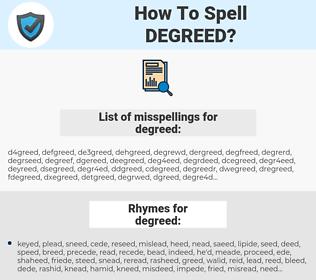 degreed, spellcheck degreed, how to spell degreed, how do you spell degreed, correct spelling for degreed