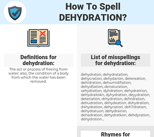 dehydration, spellcheck dehydration, how to spell dehydration, how do you spell dehydration, correct spelling for dehydration