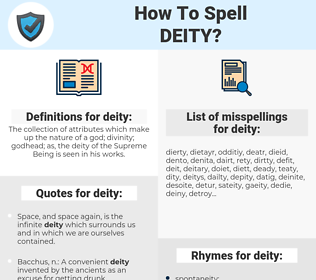 deity, spellcheck deity, how to spell deity, how do you spell deity, correct spelling for deity