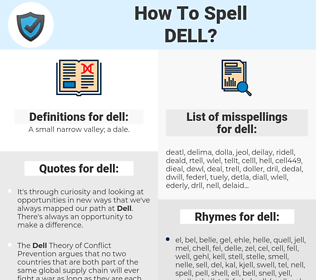 dell, spellcheck dell, how to spell dell, how do you spell dell, correct spelling for dell