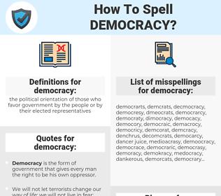 democracy, spellcheck democracy, how to spell democracy, how do you spell democracy, correct spelling for democracy