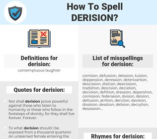 derision, spellcheck derision, how to spell derision, how do you spell derision, correct spelling for derision