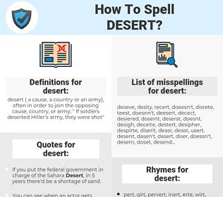 desert, spellcheck desert, how to spell desert, how do you spell desert, correct spelling for desert