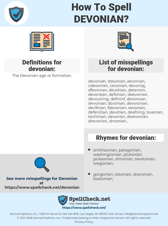 devonian, spellcheck devonian, how to spell devonian, how do you spell devonian, correct spelling for devonian
