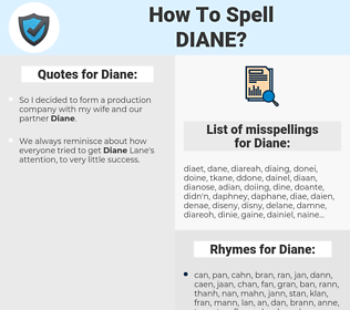 Diane, spellcheck Diane, how to spell Diane, how do you spell Diane, correct spelling for Diane