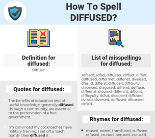 diffused, spellcheck diffused, how to spell diffused, how do you spell diffused, correct spelling for diffused