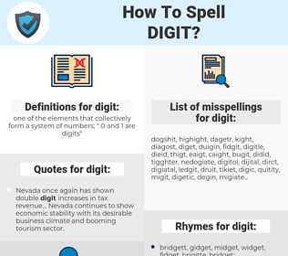 digit, spellcheck digit, how to spell digit, how do you spell digit, correct spelling for digit