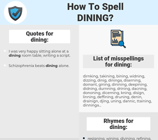 dining, spellcheck dining, how to spell dining, how do you spell dining, correct spelling for dining