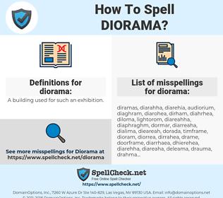 diorama, spellcheck diorama, how to spell diorama, how do you spell diorama, correct spelling for diorama