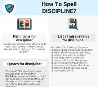 discipline, spellcheck discipline, how to spell discipline, how do you spell discipline, correct spelling for discipline