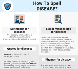 disease, spellcheck disease, how to spell disease, how do you spell disease, correct spelling for disease