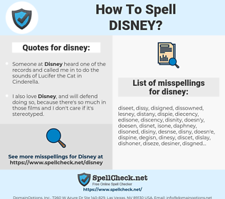 disney, spellcheck disney, how to spell disney, how do you spell disney, correct spelling for disney