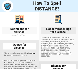distance, spellcheck distance, how to spell distance, how do you spell distance, correct spelling for distance