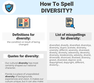 diversity, spellcheck diversity, how to spell diversity, how do you spell diversity, correct spelling for diversity