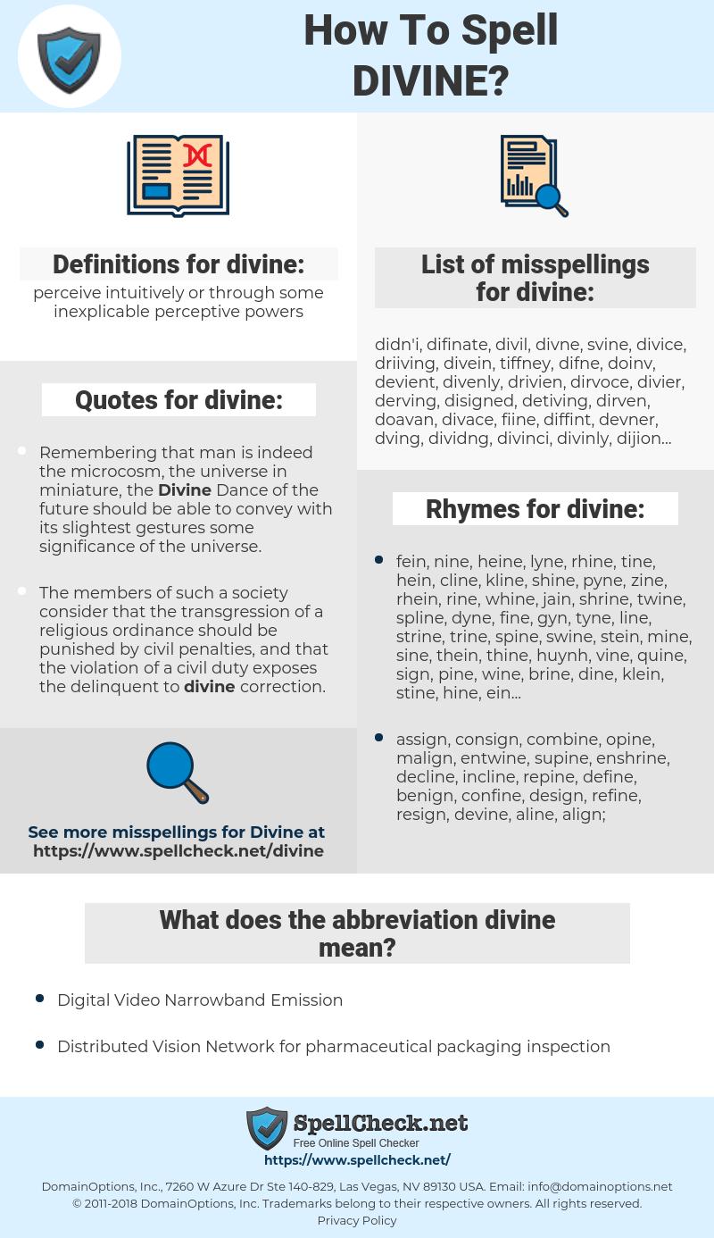 divine, spellcheck divine, how to spell divine, how do you spell divine, correct spelling for divine
