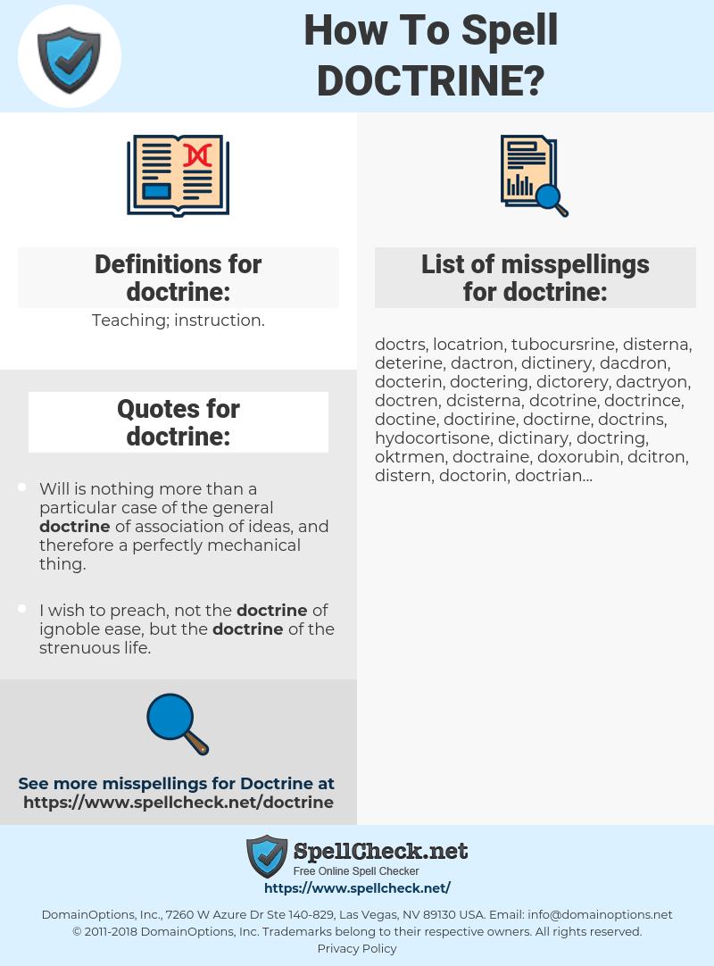 doctrine, spellcheck doctrine, how to spell doctrine, how do you spell doctrine, correct spelling for doctrine
