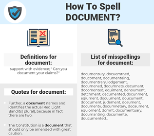document, spellcheck document, how to spell document, how do you spell document, correct spelling for document