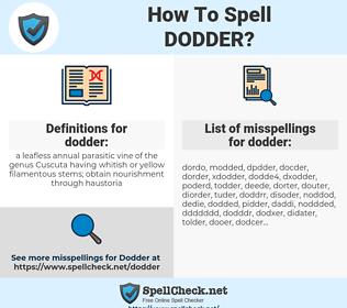 dodder, spellcheck dodder, how to spell dodder, how do you spell dodder, correct spelling for dodder
