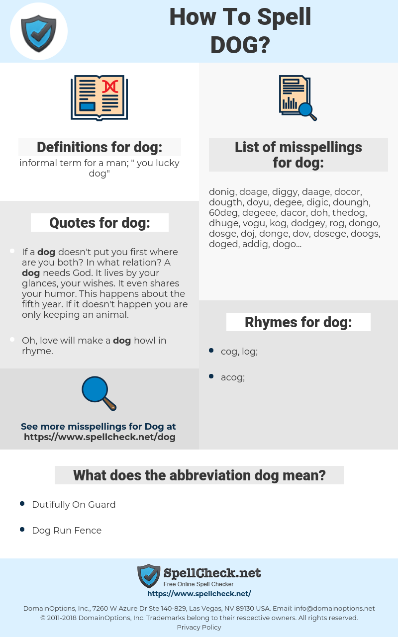 dog, spellcheck dog, how to spell dog, how do you spell dog, correct spelling for dog