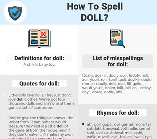 doll, spellcheck doll, how to spell doll, how do you spell doll, correct spelling for doll