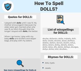 DOLLS, spellcheck DOLLS, how to spell DOLLS, how do you spell DOLLS, correct spelling for DOLLS