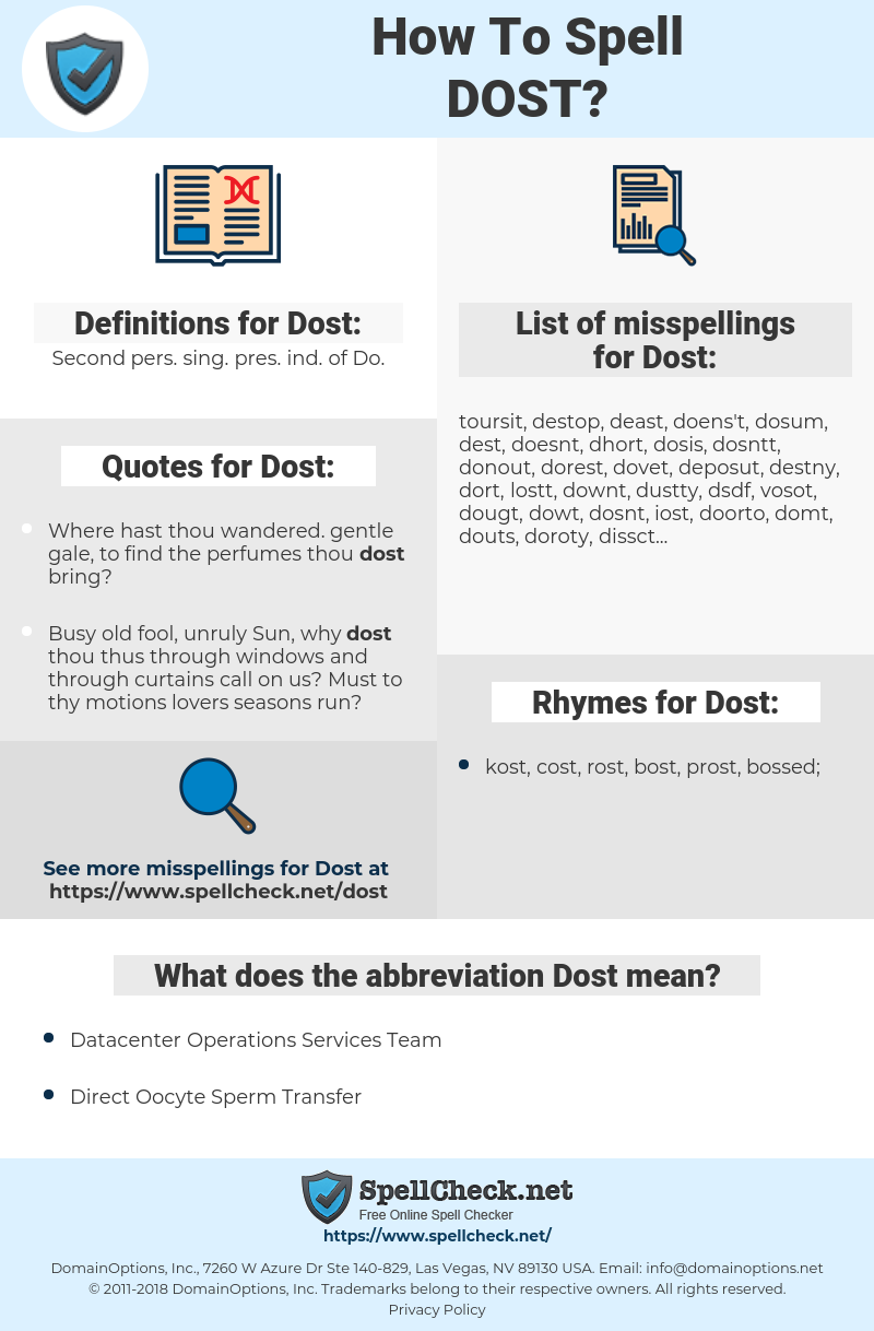 Dost, spellcheck Dost, how to spell Dost, how do you spell Dost, correct spelling for Dost