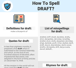 draft, spellcheck draft, how to spell draft, how do you spell draft, correct spelling for draft
