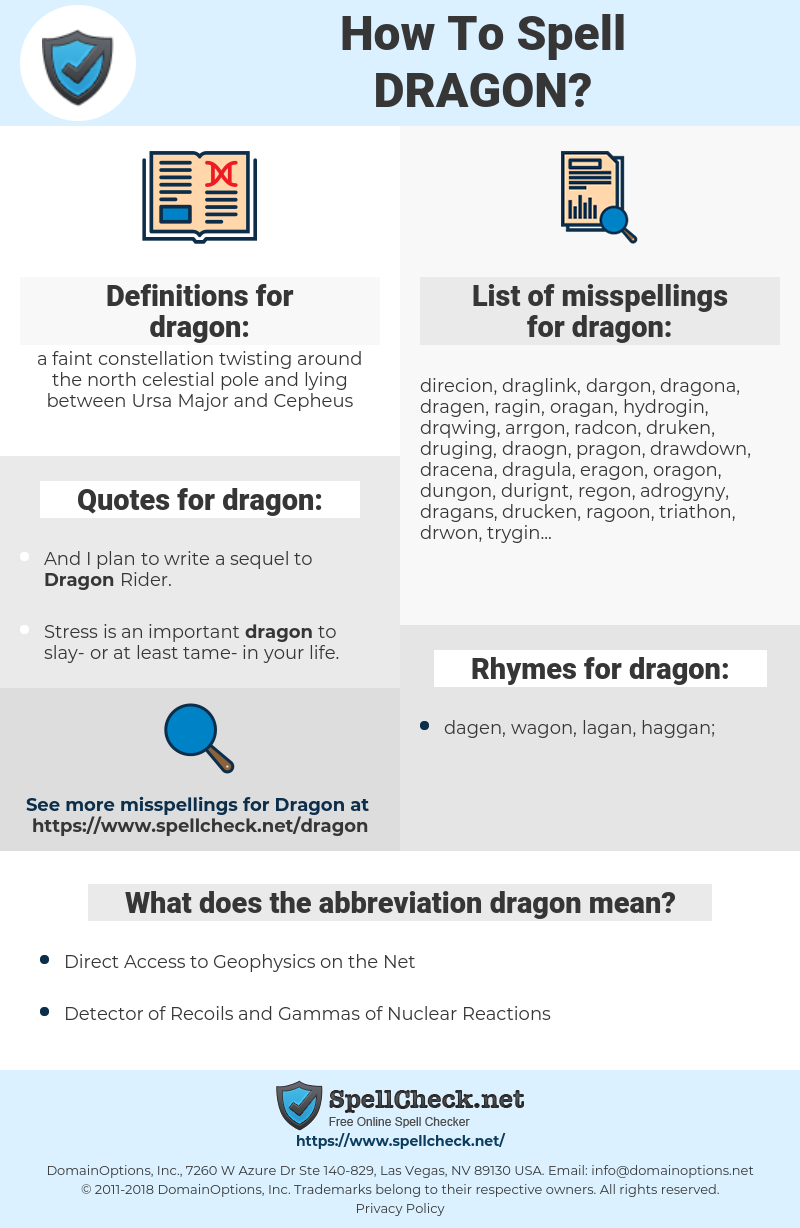 dragon, spellcheck dragon, how to spell dragon, how do you spell dragon, correct spelling for dragon