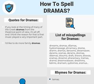 Dramas, spellcheck Dramas, how to spell Dramas, how do you spell Dramas, correct spelling for Dramas