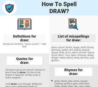 draw, spellcheck draw, how to spell draw, how do you spell draw, correct spelling for draw