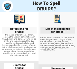 druids, spellcheck druids, how to spell druids, how do you spell druids, correct spelling for druids
