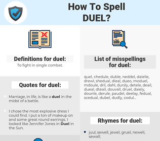 duel, spellcheck duel, how to spell duel, how do you spell duel, correct spelling for duel