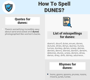 dunes, spellcheck dunes, how to spell dunes, how do you spell dunes, correct spelling for dunes