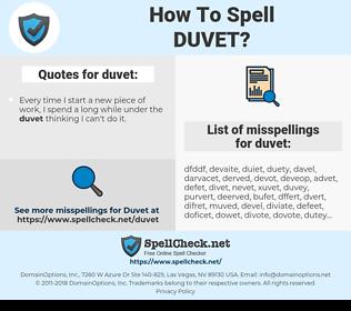 duvet, spellcheck duvet, how to spell duvet, how do you spell duvet, correct spelling for duvet
