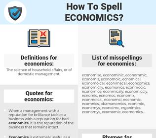 economics, spellcheck economics, how to spell economics, how do you spell economics, correct spelling for economics