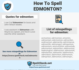 edmonton, spellcheck edmonton, how to spell edmonton, how do you spell edmonton, correct spelling for edmonton