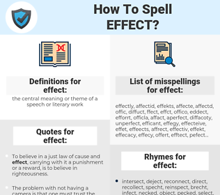 effect, spellcheck effect, how to spell effect, how do you spell effect, correct spelling for effect