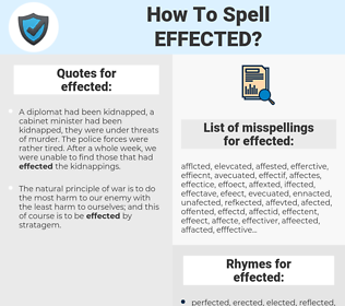 effected, spellcheck effected, how to spell effected, how do you spell effected, correct spelling for effected