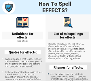 effects, spellcheck effects, how to spell effects, how do you spell effects, correct spelling for effects
