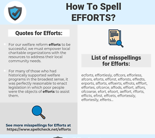 Efforts, spellcheck Efforts, how to spell Efforts, how do you spell Efforts, correct spelling for Efforts