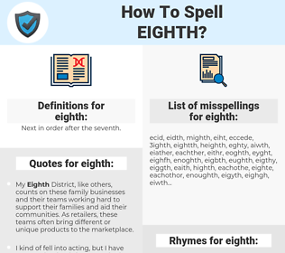 eighth, spellcheck eighth, how to spell eighth, how do you spell eighth, correct spelling for eighth