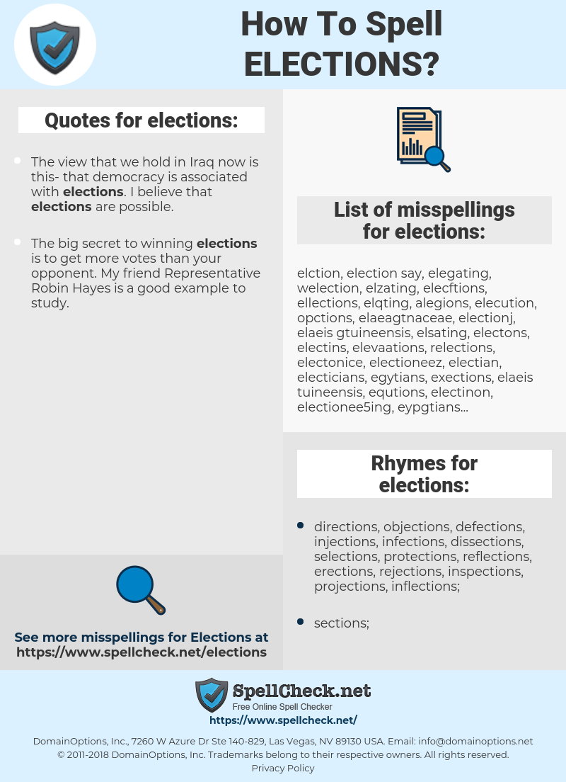 elections, spellcheck elections, how to spell elections, how do you spell elections, correct spelling for elections