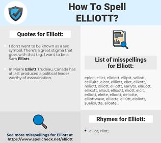Elliott, spellcheck Elliott, how to spell Elliott, how do you spell Elliott, correct spelling for Elliott