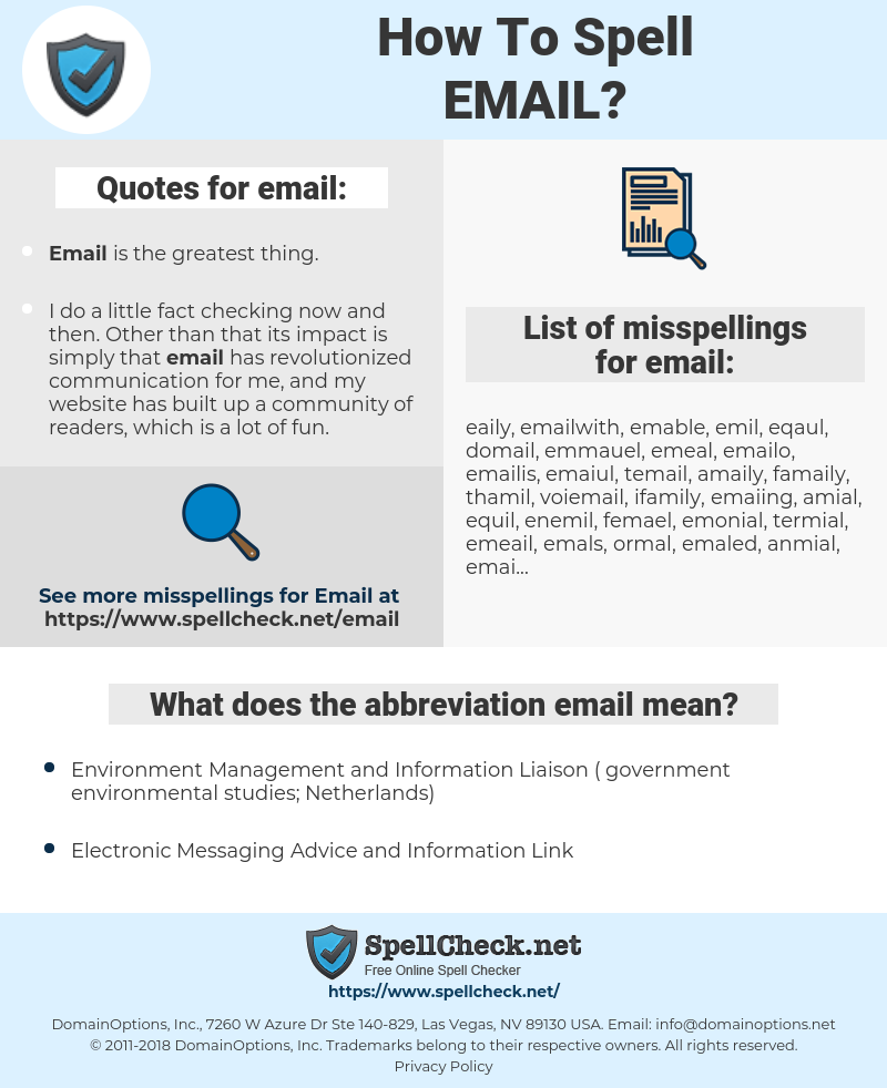 email, spellcheck email, how to spell email, how do you spell email, correct spelling for email