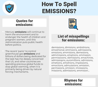 emissions, spellcheck emissions, how to spell emissions, how do you spell emissions, correct spelling for emissions