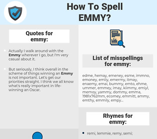 emmy, spellcheck emmy, how to spell emmy, how do you spell emmy, correct spelling for emmy