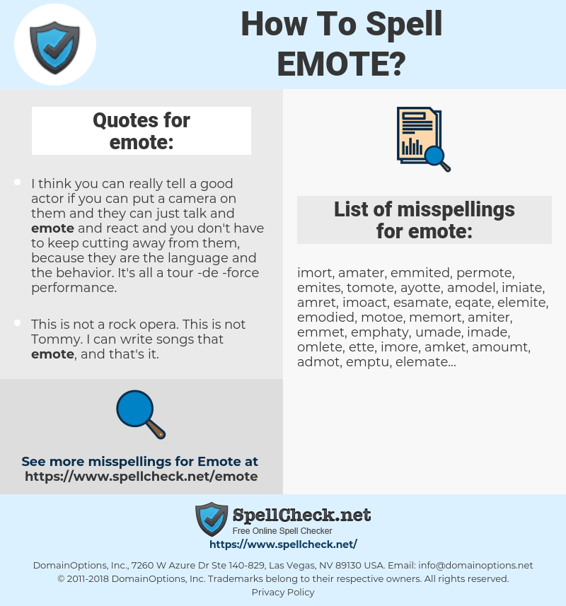 emote, spellcheck emote, how to spell emote, how do you spell emote, correct spelling for emote
